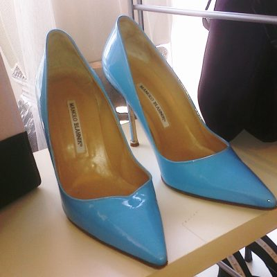 Why, yes! Those ARE Baby Blue Patent Leather Manolos….