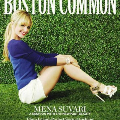 Newport's Own Mena Suvari Graces Cover of Boston Common