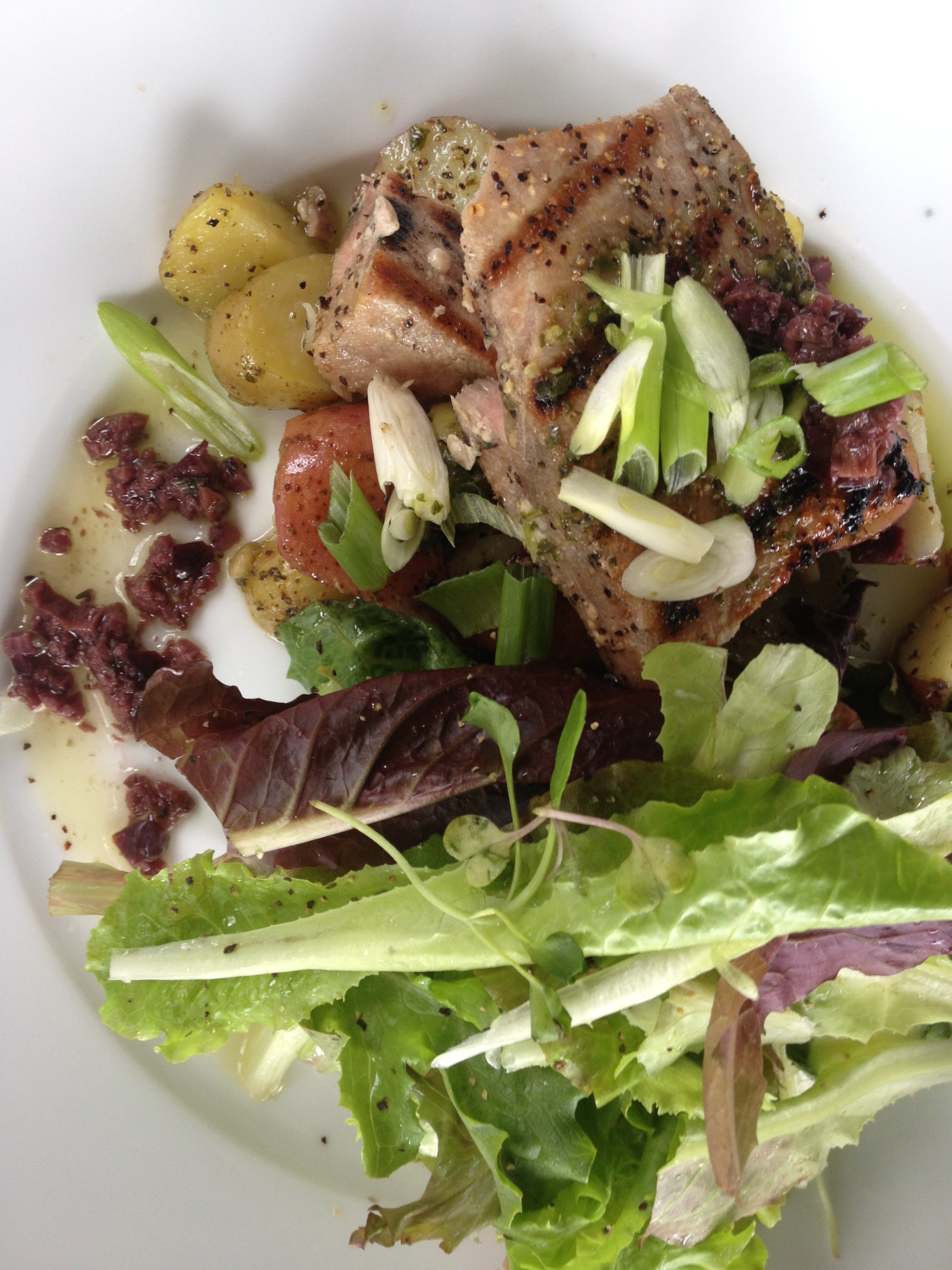 Grilled Atlantic Tuna on a locavore salad