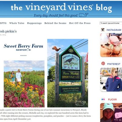 Look Who was in Our Neck of the Woods: Vineyard Vines