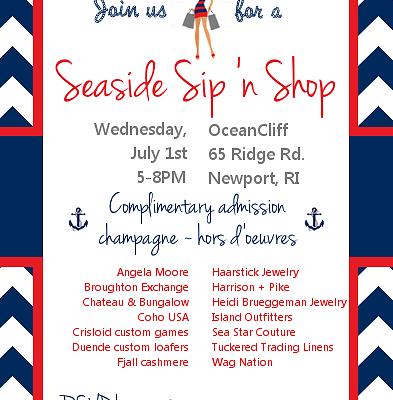 Social Calendar: OceanCliff's Seaside Sip n' Shop