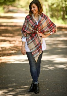 How to Wear a Blanket Scarf by Bourbon & Boots