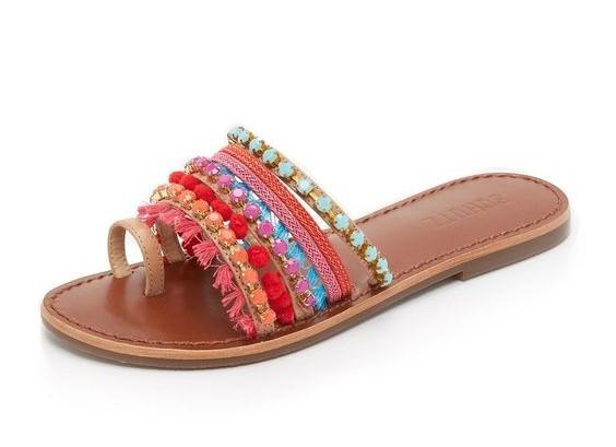 Schutz beaded sandal